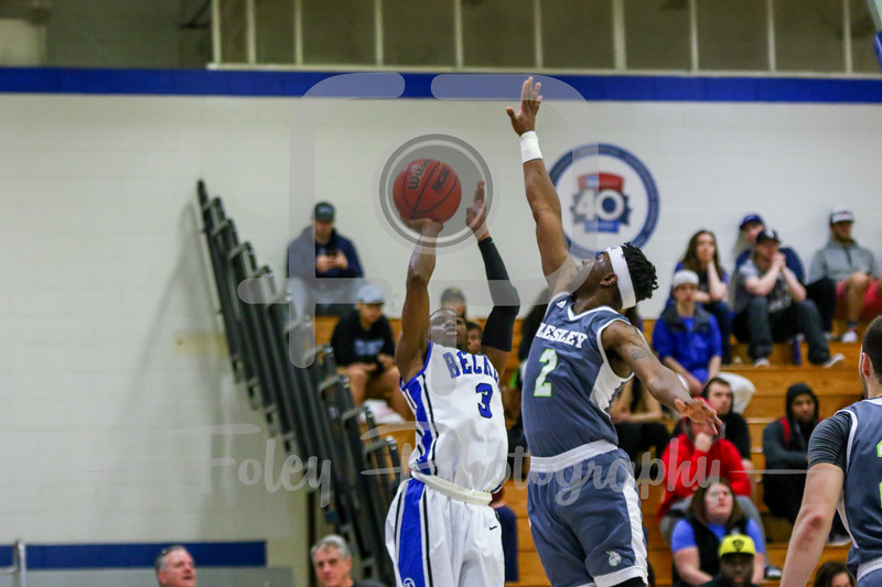 Becker College Hawks guard Kyle Credle (3)