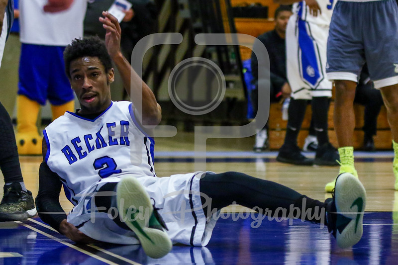 Becker College Hawks guard Kareem Davis (2)