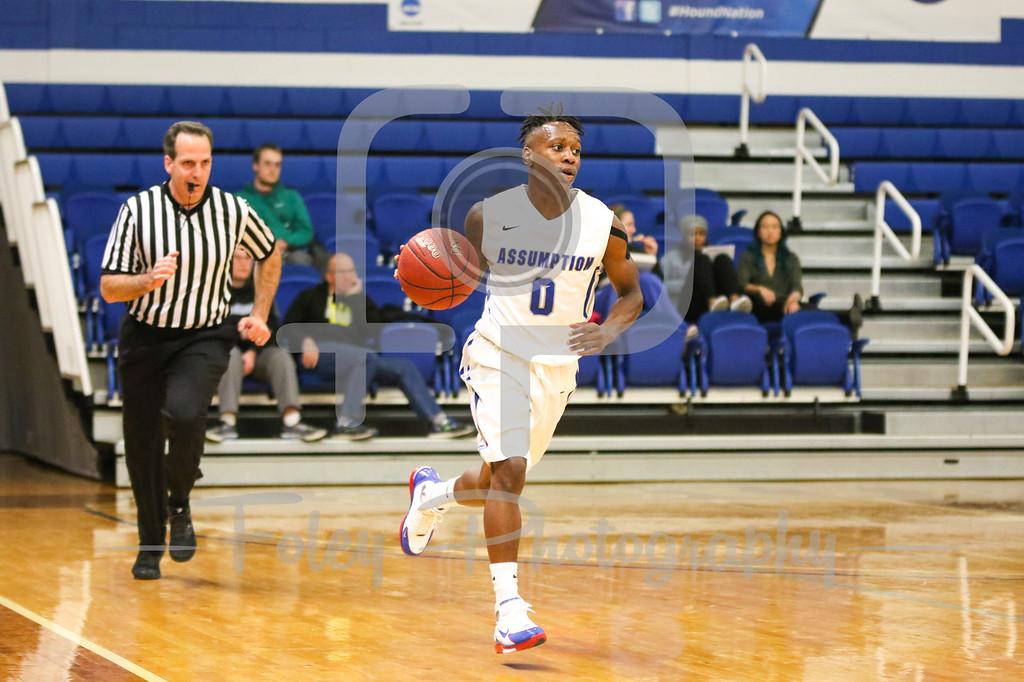 Assumption College guard Marcus Murray (0)