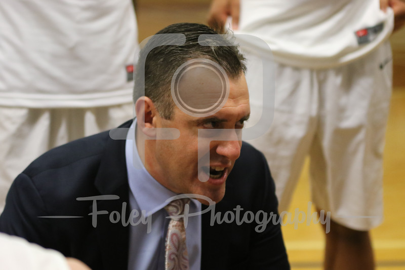 Assumption College head coach Michael Harding