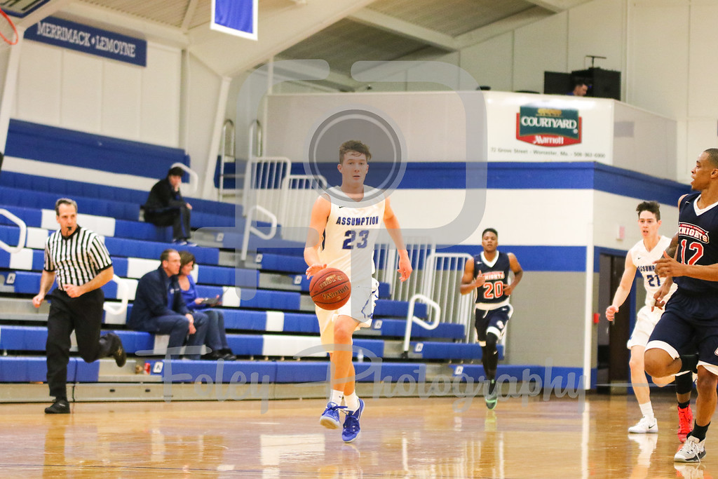 Assumption College guard Patrick Fleming (23)
