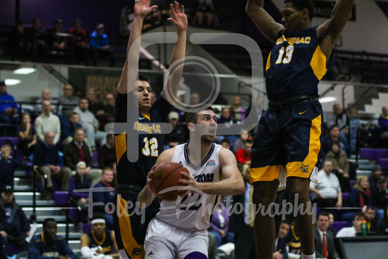 Holy Cross Crusaders guard Robert Champion (22)