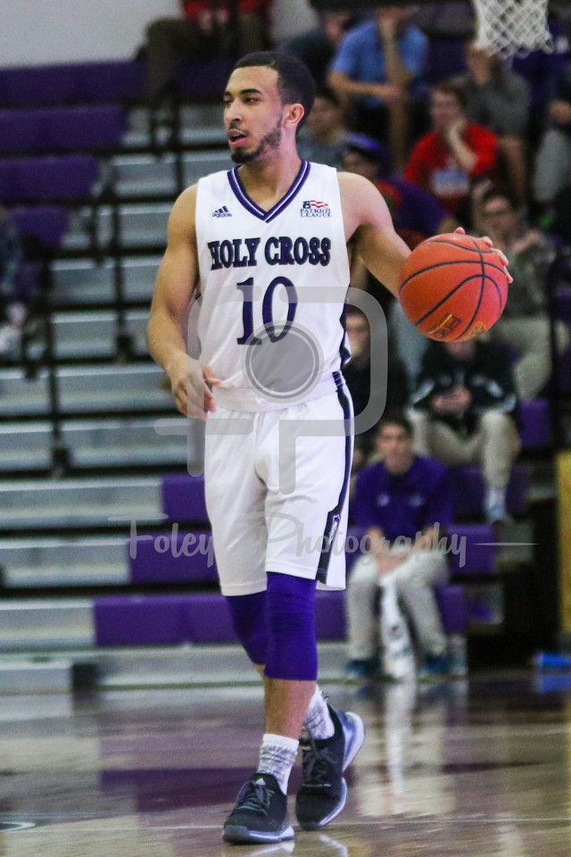 Holy Cross Crusaders guard Patrick Benzan (10)