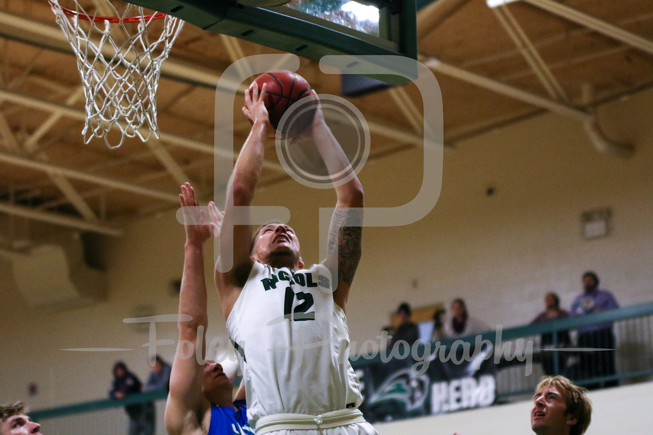 Nichols College forward Josiah Kimball (12)