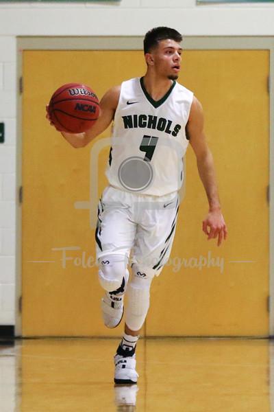 Nichols College guard Marcos Echevarria (4)