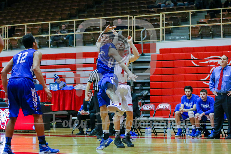 Saturday, January 21, 2017; Worcester, MA;  during the Engineers 87-84 victory over the Lyons.