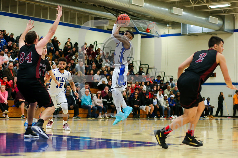 Nov. 15, 2017, Leicester Gymnasium, Leicester, Massachusetts: during the Amcats 75-74 overtime victory over the Hawks in a non-conference matchup.