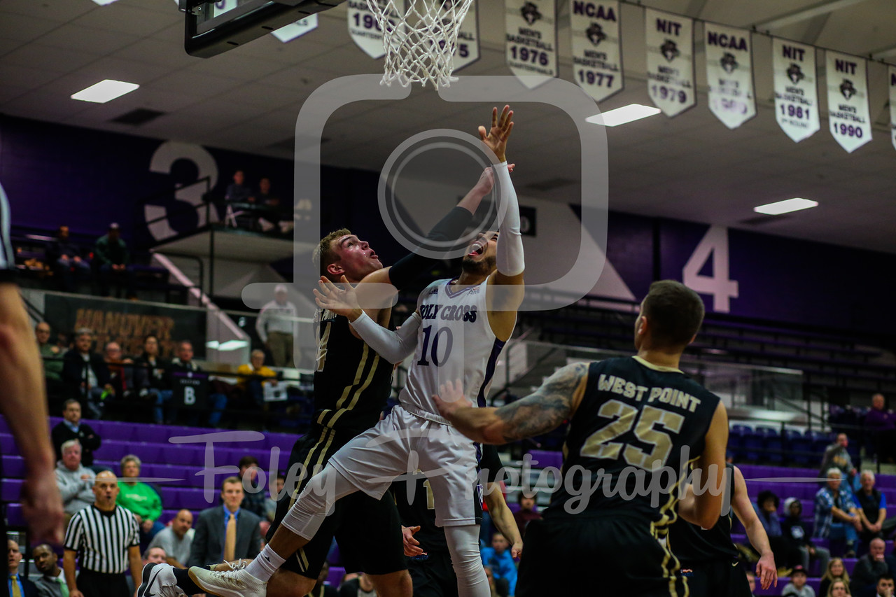 January, 17, 2018, Hart Center, Worcester, Massachusetts: during the Crusaders 70-66 to the Black Knights in a Patriot League matchup.