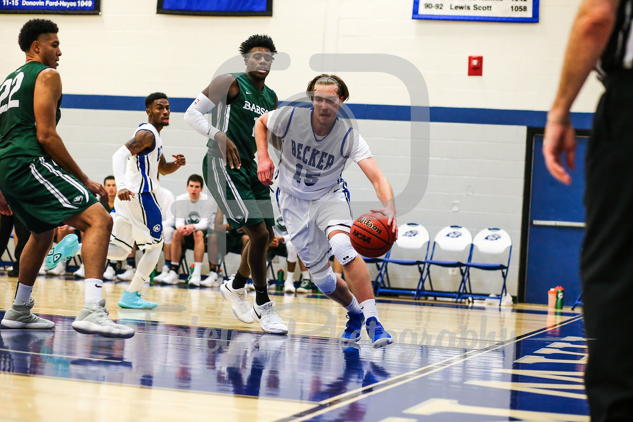 Becker College Hawks forward Daniel Flaherty Jr. (15)