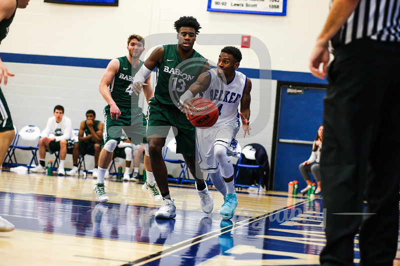 Becker College Hawks guard Kareem Davis (1)