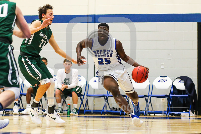 Becker College Hawks forward Bernard Broaster (25)