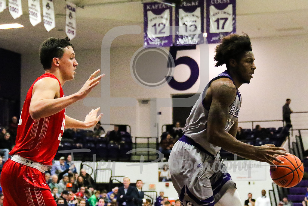 January, 14, 2018, Hart Center, Worcester, Massachusetts: during the Terriers 54-40 victory over the Crusaders in a Patriot League matchup.