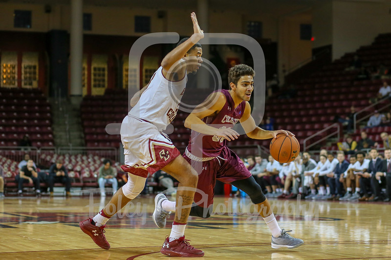 Colgate Raiders guard Francisco Amiel (30) Boston College Eagles forward Deontae Hawkins (23)
