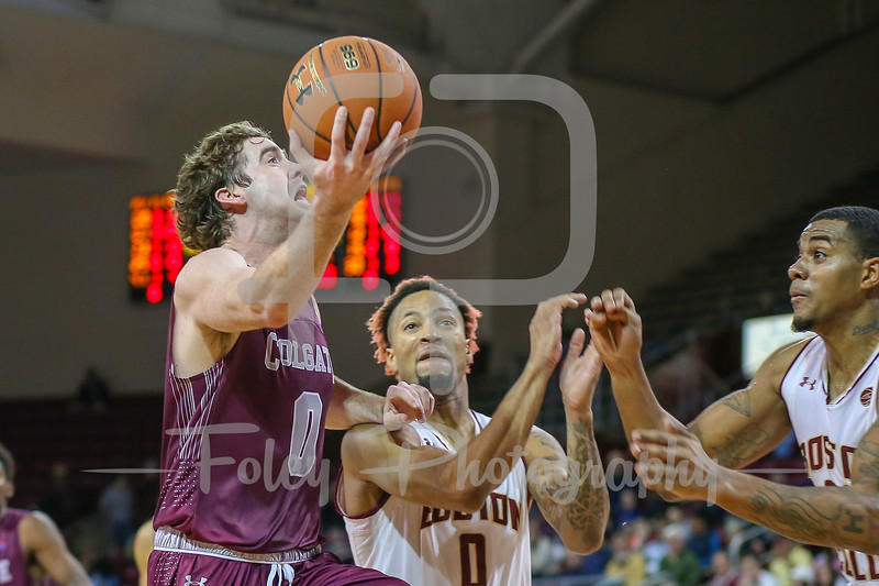 Colgate Raiders guard Sean O'Brien (0) Boston College Eagles guard Ky Bowman (0)