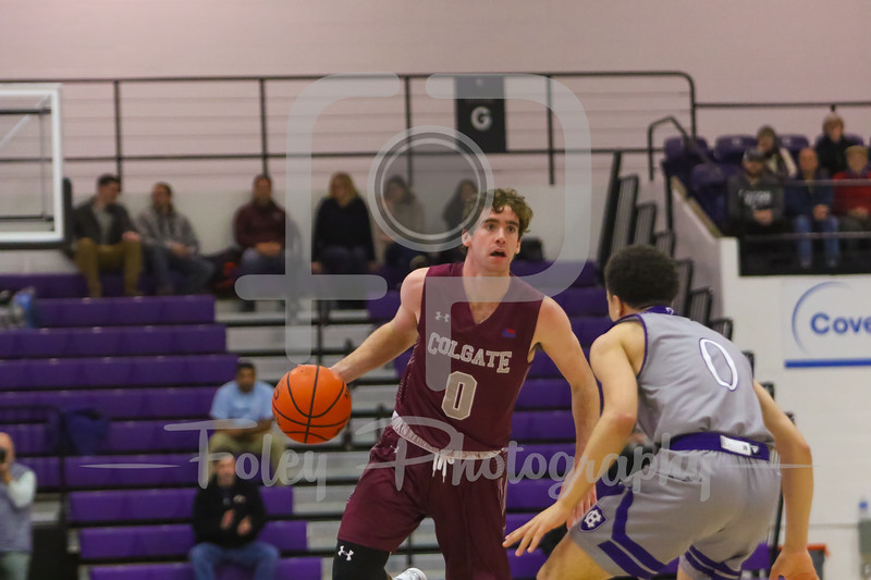 Holy Cross Crusaders guard Caleb Green (0) Colgate Raiders guard Sean O'Brien (0)