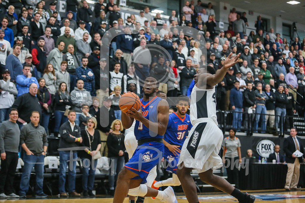 Houston Baptist Huskies guard Ian DuBose (0) Providence Friars guard Isaiah Jackson (44)