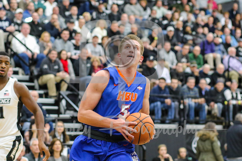 Houston Baptist Huskies forward David Caraher (5)