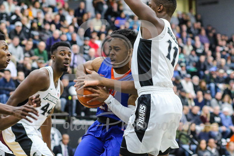 Houston Baptist Huskies guard William Gates Jr. (21) Providence Friars guard Alpha Diallo (11)