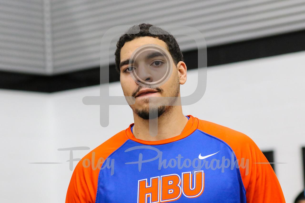 Houston Baptist Huskies center Josh Ibarra (44)