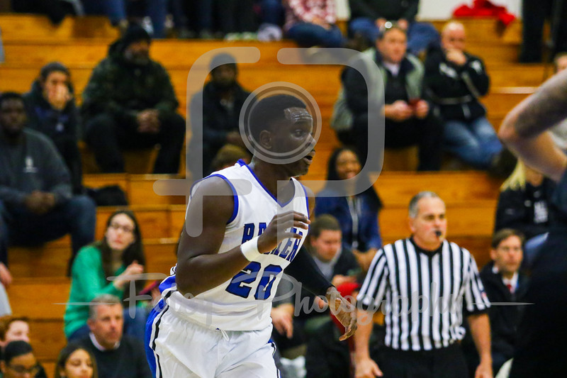 Dec. 7, 2017, Leicester Gymnasium, Leicester, Massachusetts: during the Bison 90-77 victory over the Hawks in a non-conference matchup.