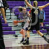 Holy Cross Crusaders guard Katie Doherty (5) Army Black Knights forward Madison Hovren (41)
