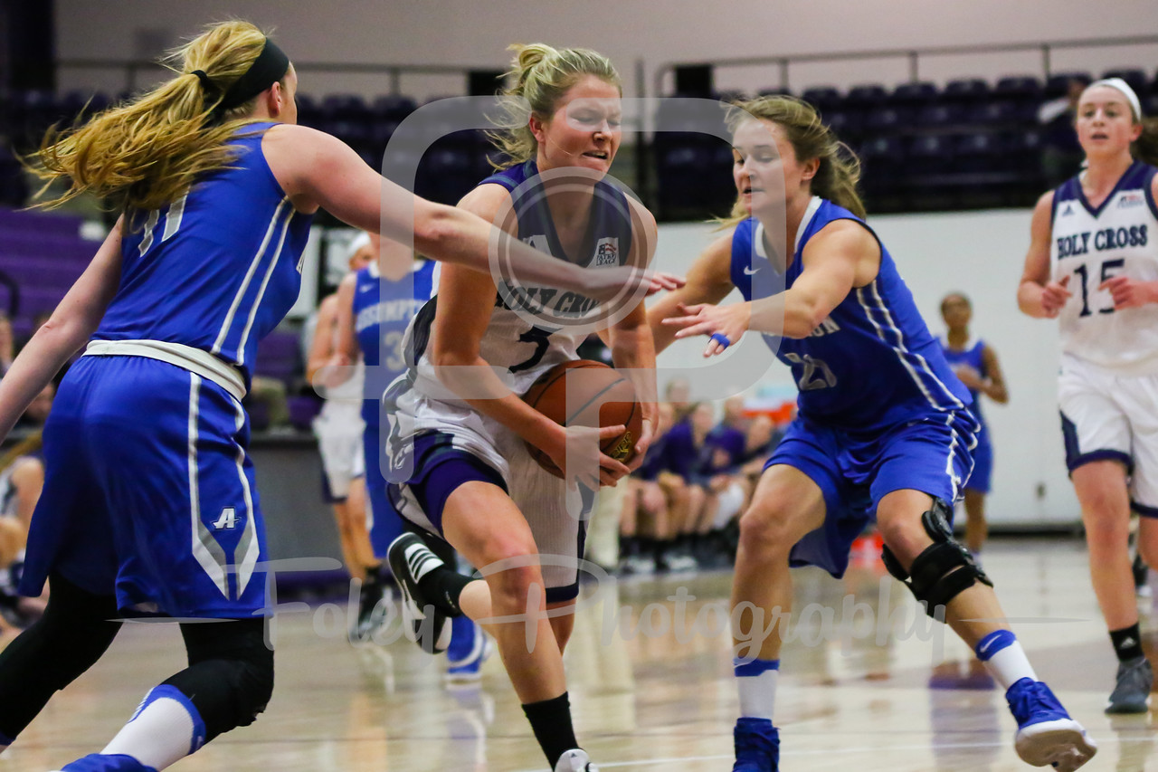 Holy Cross Crusaders guard Katie Doherty (5)