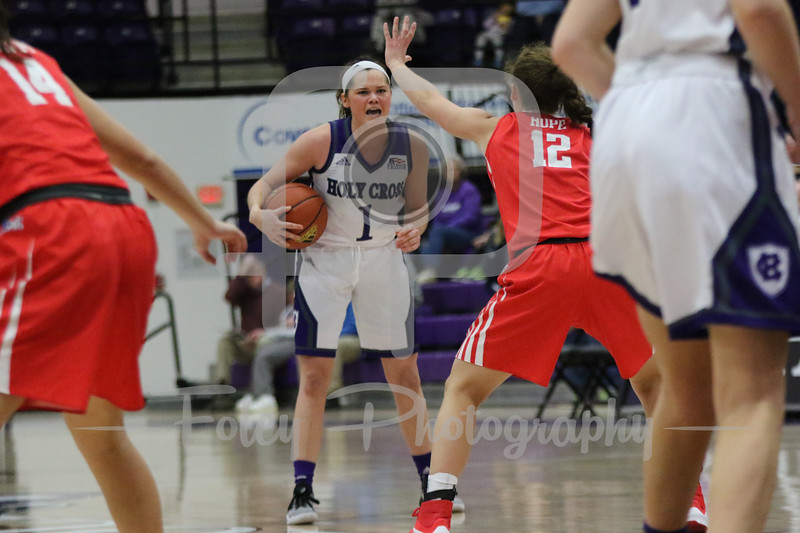 Holy Cross Crusaders guard Tricia Byrne (1)