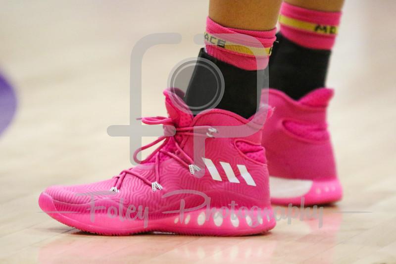 Holy Cross Crusaders sporting Pink Sneakers