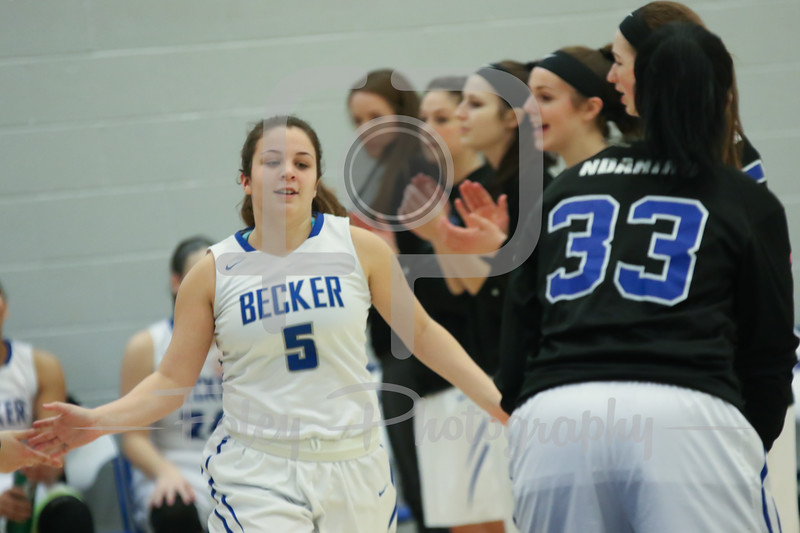 Becker College Hawks guard Katey Anderson (5)