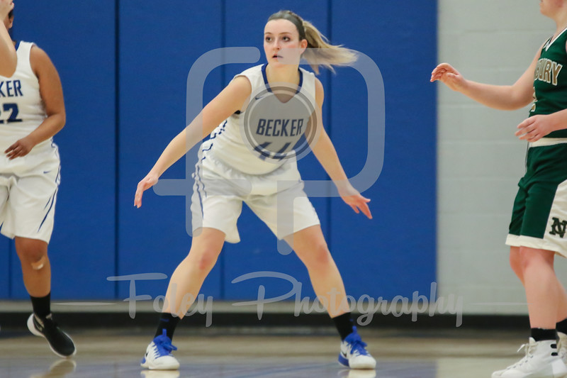 Becker College Hawks guard Erin Gaudette (44)