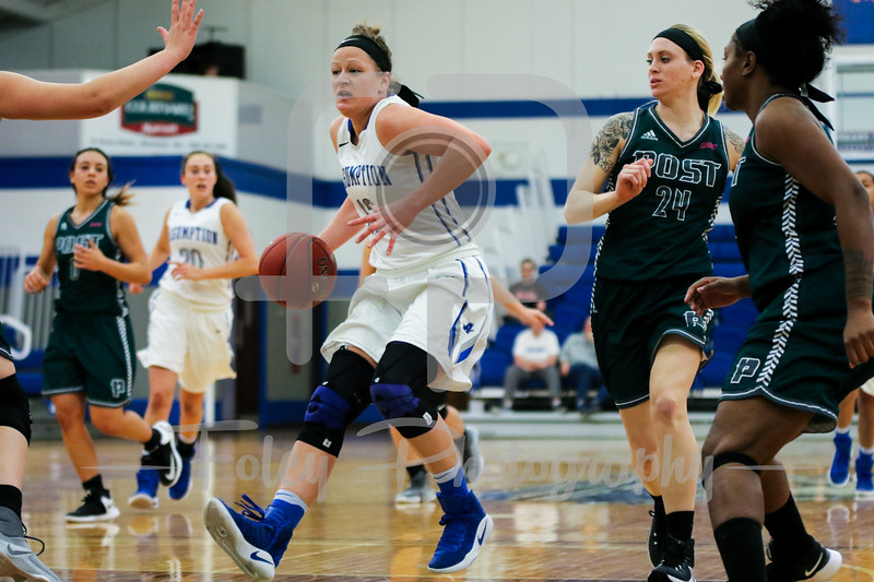 Assumption College guard Shayla Hubbard (12)