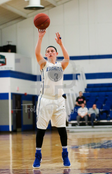 Assumption College guard Allison Stoddard (3)