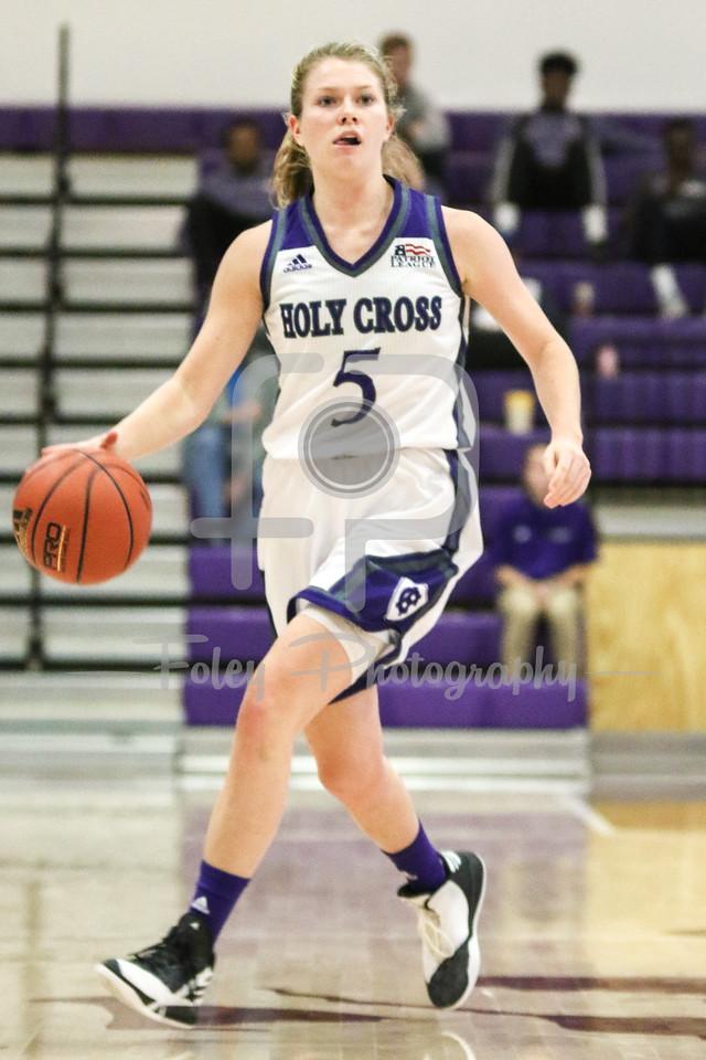 Holy Cross Crusaders guard Katie Doherty (5)