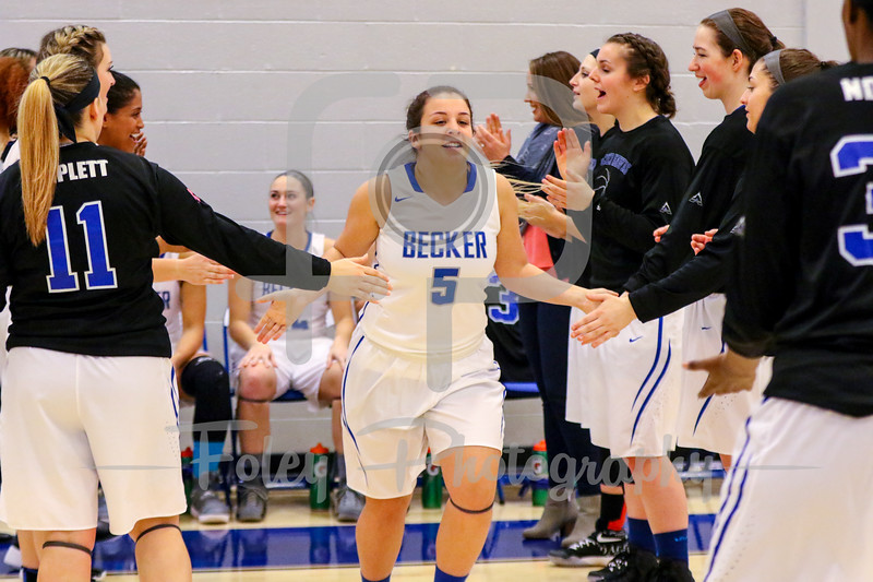 Friday, January 13, 2017; Leicester, MA;  during the Pride's 76-49 victory over the Hawks in NECC play.