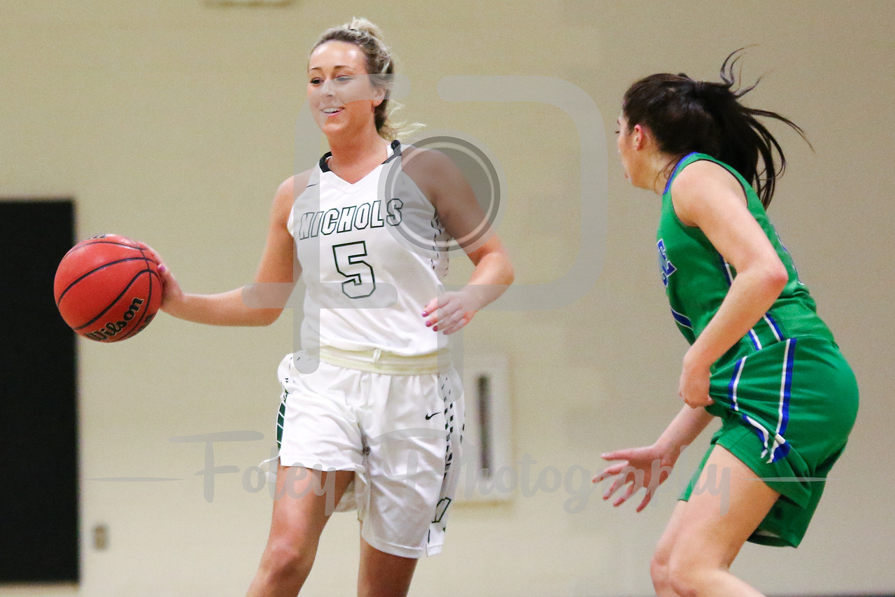 Nichols College forward Brooke Packard (5)