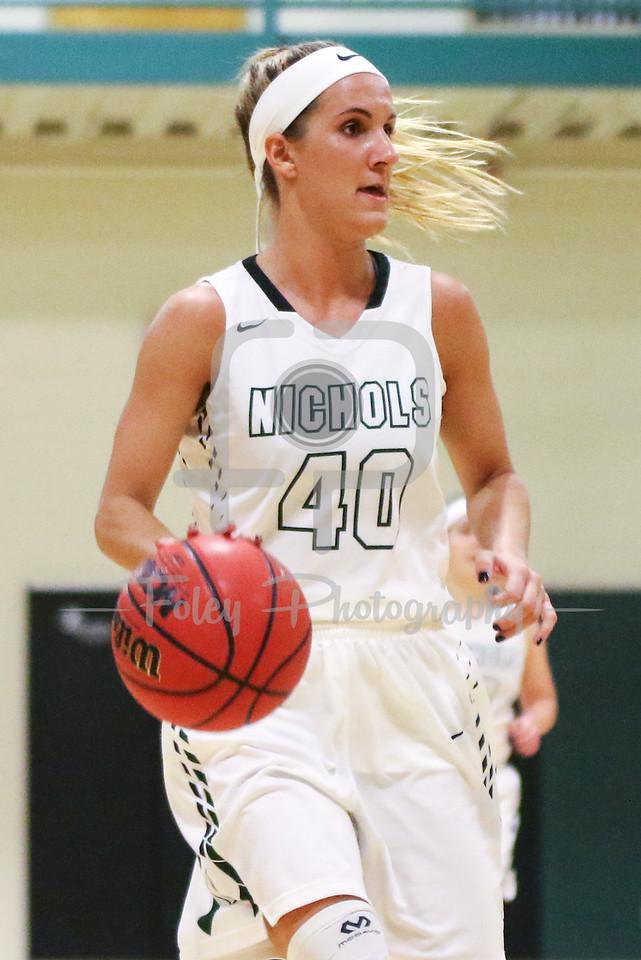 Nichols College guard Taylor Daniels (40)