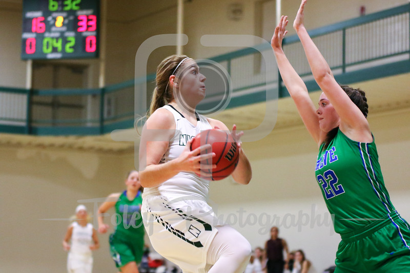 Nichols College forward Anna McDaniel (20)