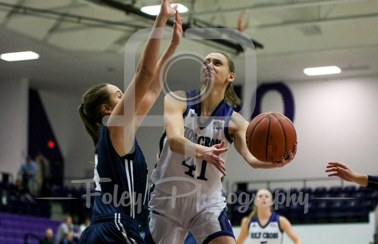 Holy Cross Crusaders forward Amy Hasenauer (41)