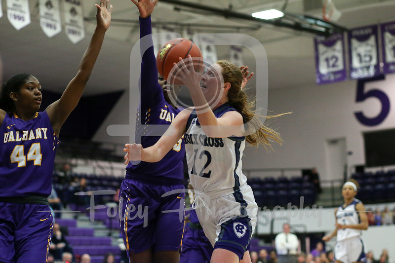 Madalyn Smith (12) of the Holy Cross Crusaders