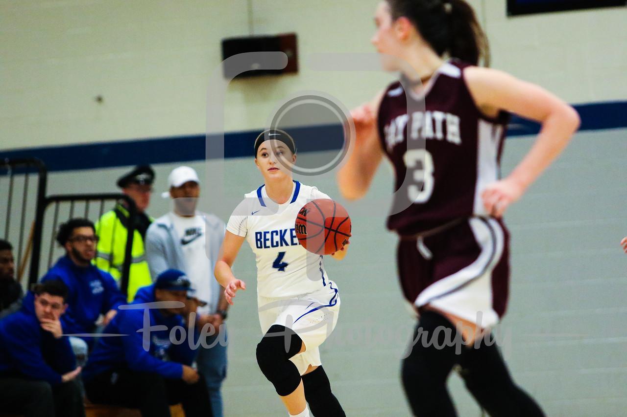 Becker College Hawks guard Allie Ablondi (4)