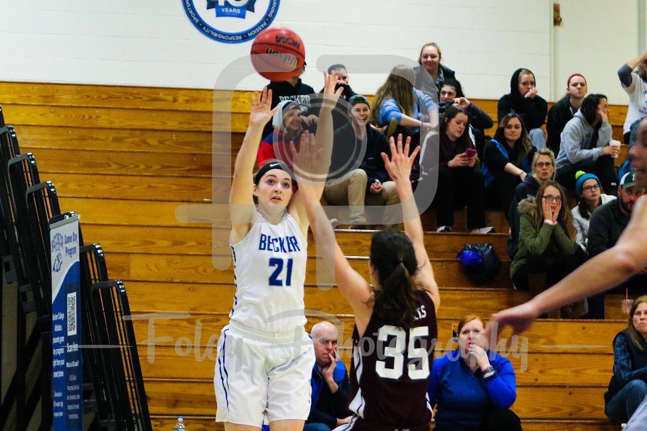 Becker College Hawks forward Julia Campellone (21)