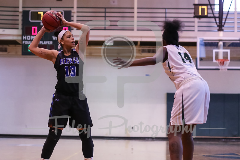 Becker College Hawks forward Adrianna Dowdy (13)