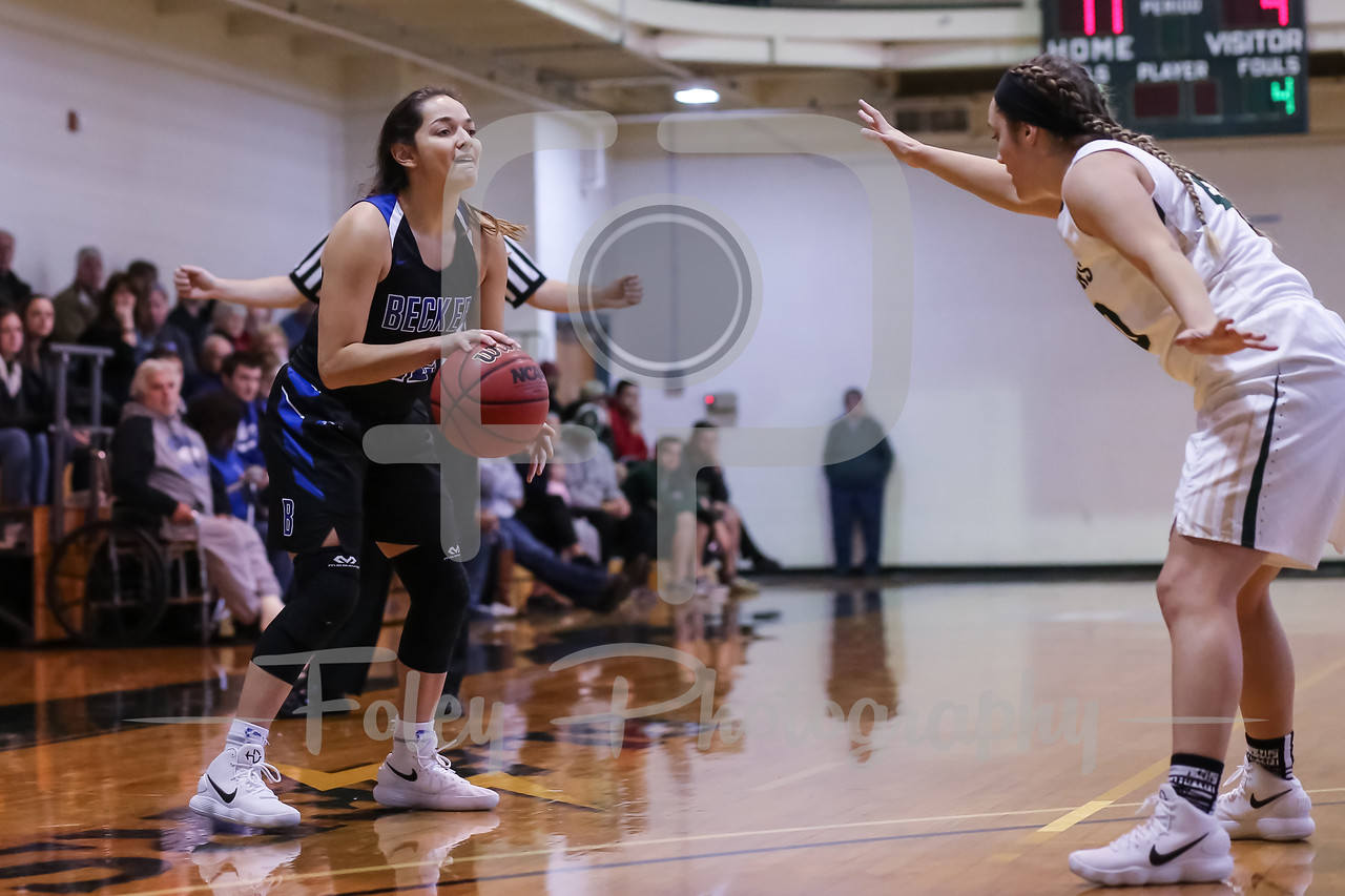 Becker College Hawks guard Jazlyn Contreras (12)