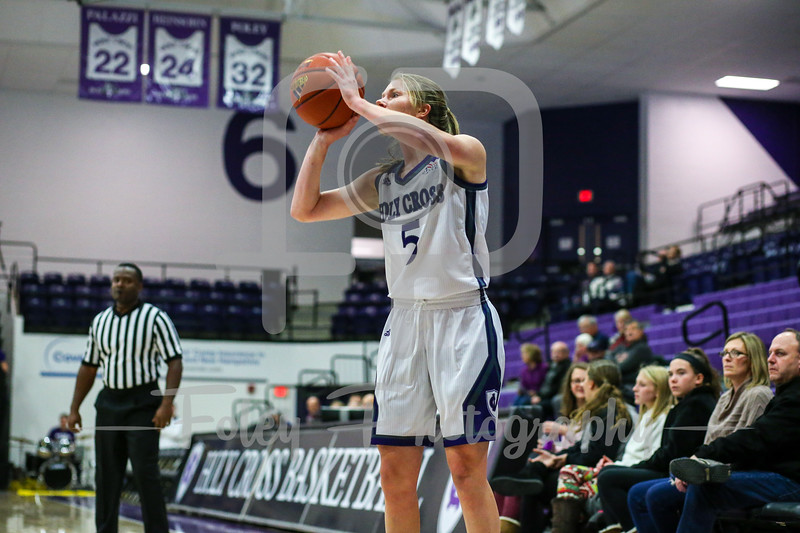 Dec. 6, 2017, Hart Center, Worcester, Massachusetts: during the Eagles  70-61 victory over the Crusaders in a non-conference matchup.