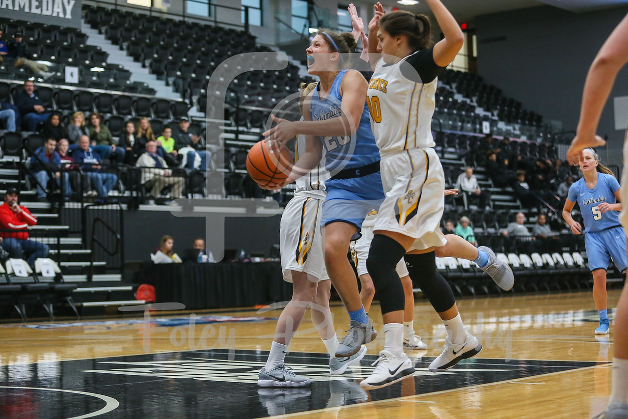 Columbia Lions guard/forward Camille Zimmerman (20) Providence Lady Friars guard Allegra Botteghi (10)