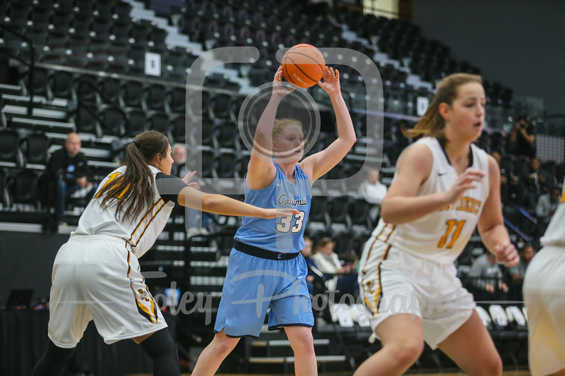 Columbia Lions guard/forward Abby Lee (33)