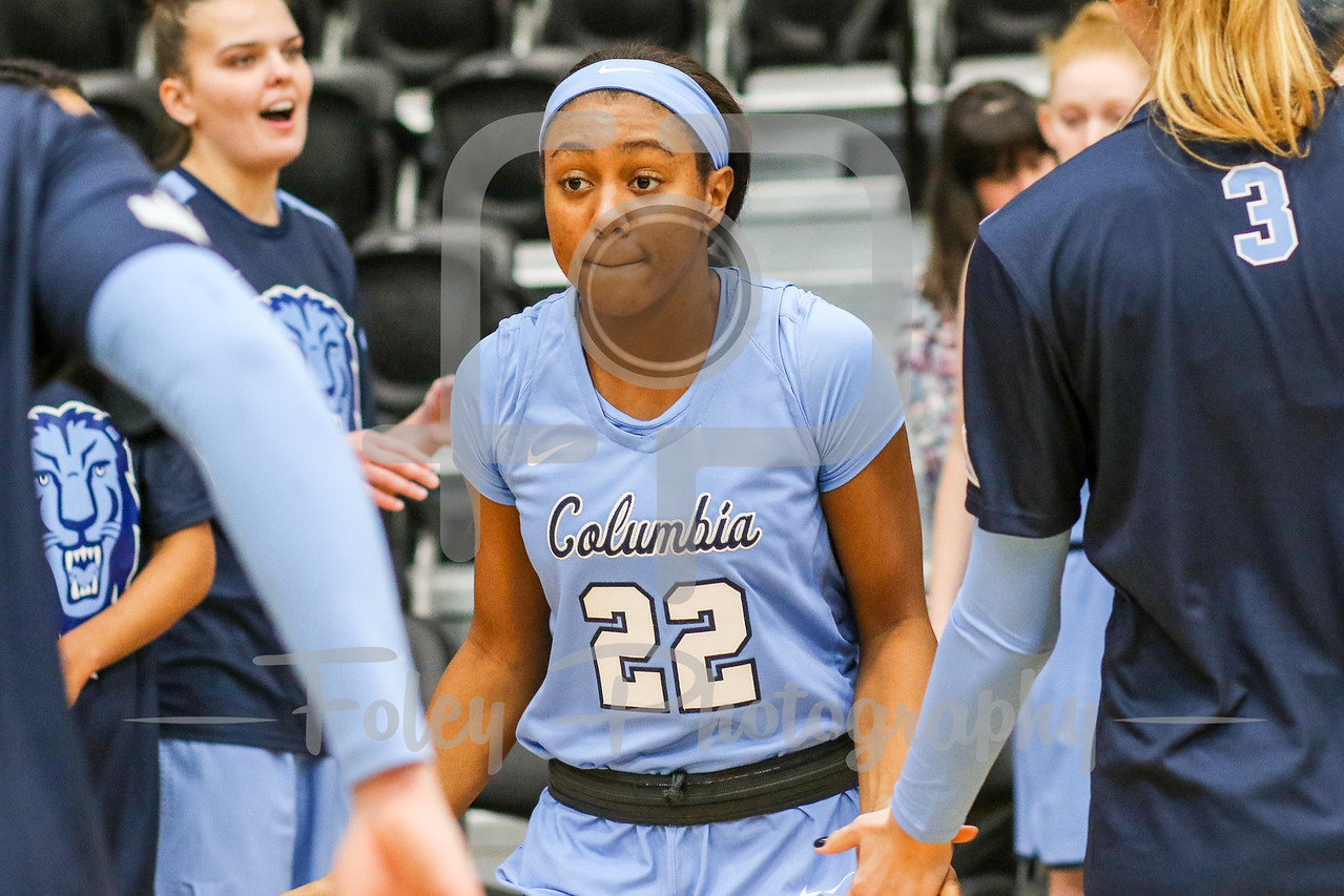 Columbia Lions guard Maya Sampleton (22)