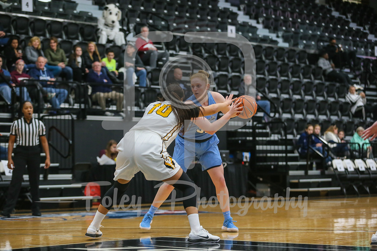 Columbia Lions guard/forward Abby Lee (33) Providence Lady Friars guard Allegra Botteghi (10)