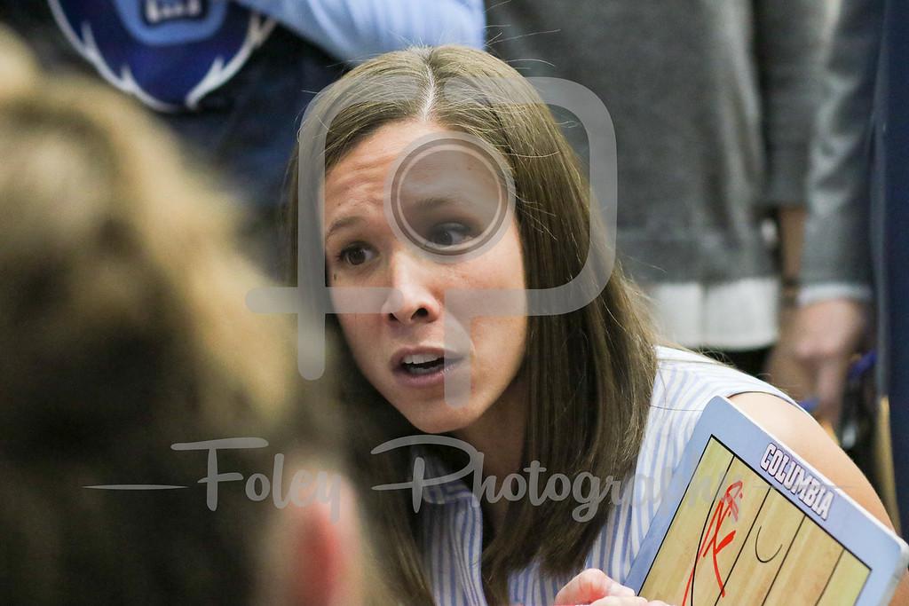 Columbia Lions head coach Megan Griffith