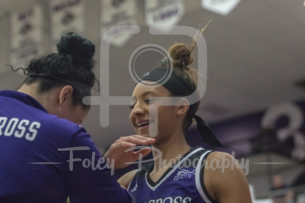 Dec. 20, 2017, Hart Center, Worcester, Massachusetts: Holy Cross Crusaders guard Infiniti Thomas-Waheed (3) comes out for introductions before the game between the Holy Cross Crusaders and the Dartmouth Big Green.